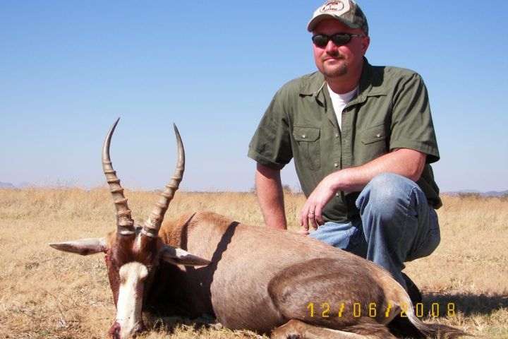 Gerry with Blesbuck