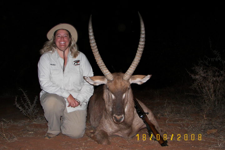 Jackie with Waterbuck