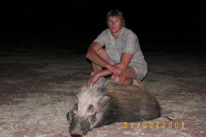 Malcolm with Bushpig