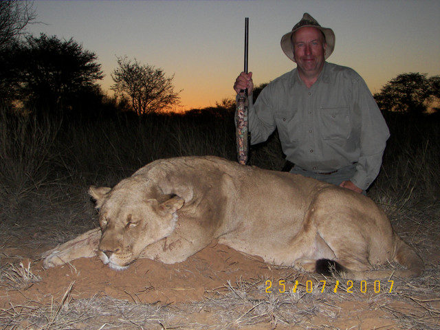 Wayne Pluta with Lioness