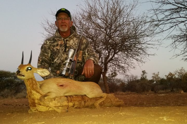 Jimmy with Steenbok