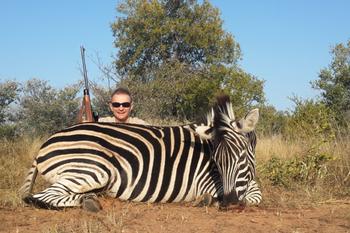 Joe Longmore with Zebra