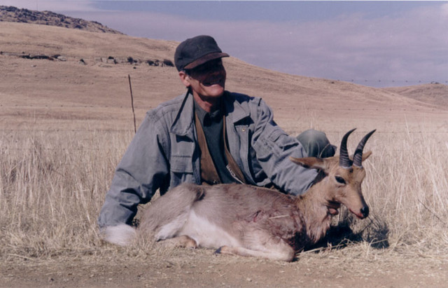 Silvio with mountain Reedbuck