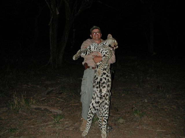 Bwana Dave with Leopard