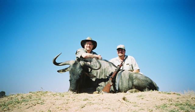 Bwana Dave with Blue Wildebeest
