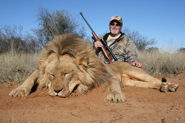 Gerry with Lion
