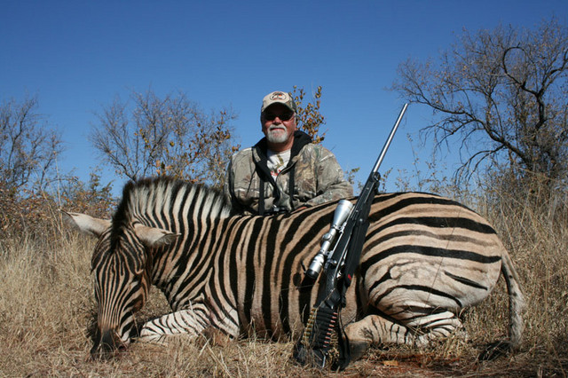 Gerry with Zebra