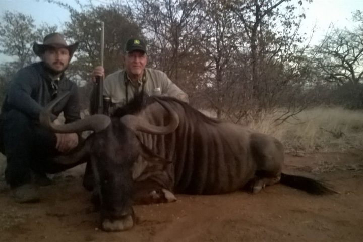 Jimmy and Josh with Blue Wildebeest