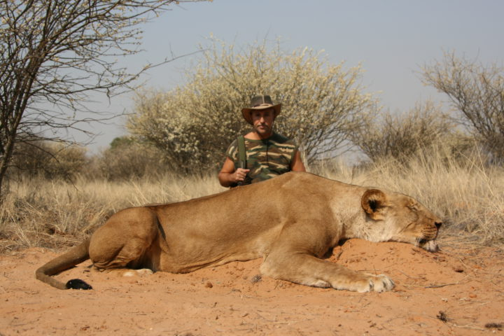 Jean with Lioness