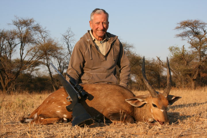 Ron with first Bushbuck
