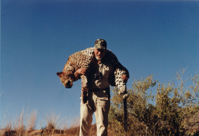 Gerry with Leopard